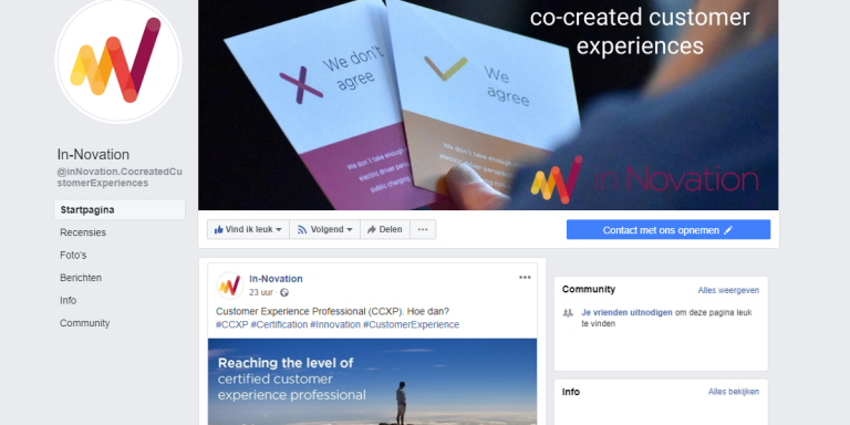 inNovation Business Page on Facebook