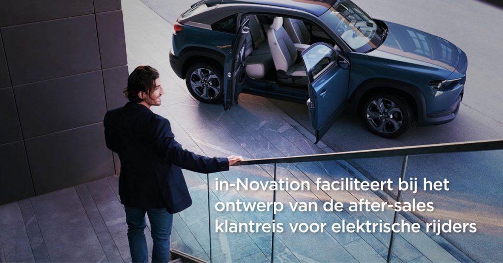 in-Novation ondersteunt Mazda bij het ontwikkelen van een blauwdruk voor de EV klantreis