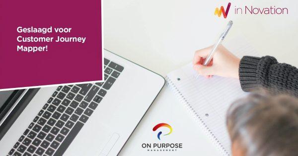 Online training Customer Journey Mapping succesvol afgerond